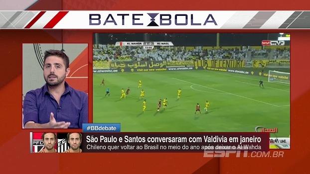Além do Santos, São Paulo também tem interesse no Valdivia; Nicola traz as informações
