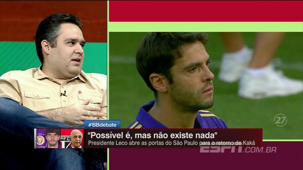 Bertozzi não é contra a volta de Kaká ao São Paulo, mas faz alerta sobre salário: 'No preço justo, pode ser importante'