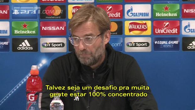 Klopp pede atenção do Liverpool contra o Maribor; James Milner espera 'jogo completamente diferente' após goleada