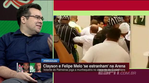 Comentaristas do BB Debate criticam ação de Felipe Melo e Rômulo Mendonça corneta volante: 'É extremamente chato'