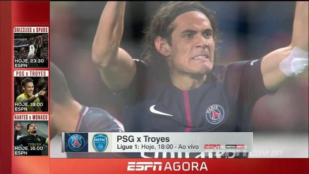 Neymar, Cavani e companhia em PSG x Troyes, Premier League, NBA e mais; veja a programação desta quarta