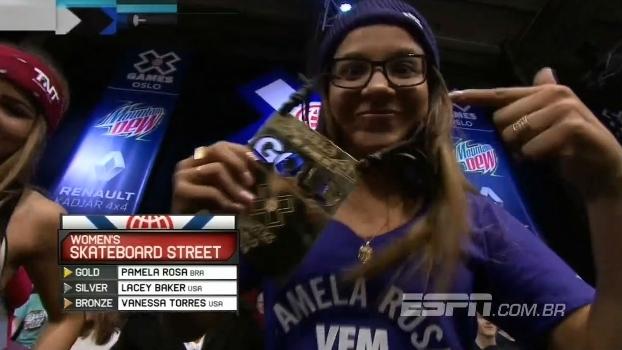 Pâmela Rosa é medalha de ouro no skate street nos X Games Oslo 2016