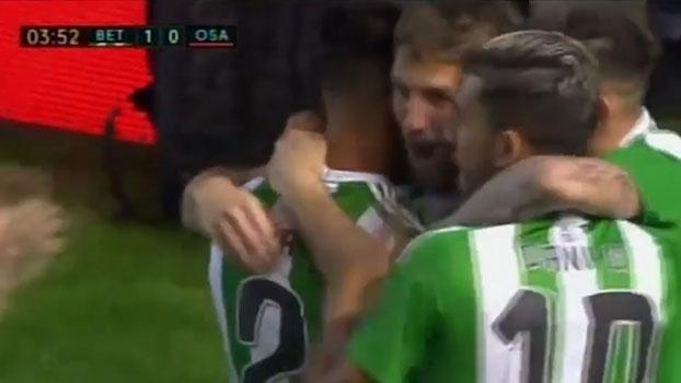Zaga 'dorme', Betis resolve em meia hora e afunda o Osasuna