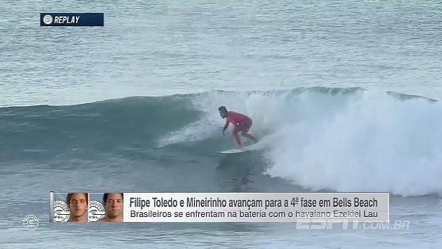 Filipe Toledo e Mineirinho avançam e vão se enfrentar na 4ª fase em Bells Beach