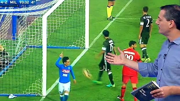 Sálvio concorda com cartão amarelo para Romagnoli em Napoli x Milan