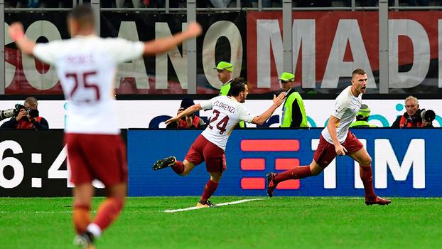 Italiano: Gols de Milan 0 x 2 Roma
