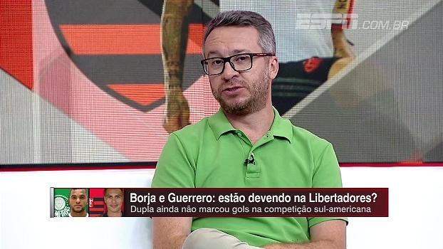 Para Maurício Barros, Guerrero está devendo mais que Borja: 'Está no Flamengo há muito tempo'