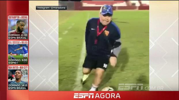 Maradona à la Rivellino? Veja como o argentino se saiu imitando o craque brasileiro
