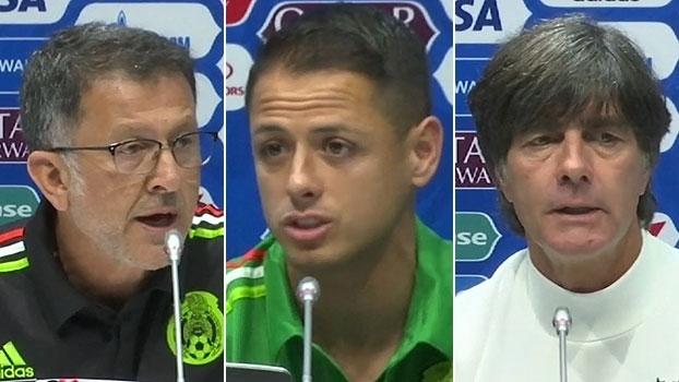 Osorio se diz 'encantado' com Alemanha: 'Exemplo a ser seguido'; Löw elogia o México: 'Mesmo patamar do Chile'