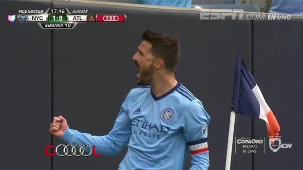 David Villa bate no ângulo e faz golaço para abrir caminho da vitória do New York City na MLS; veja
