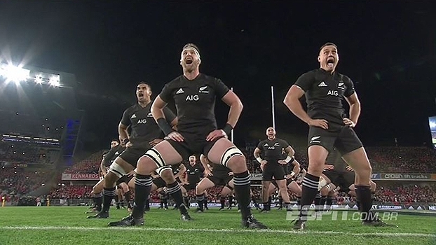 Britânicos são as vítimas da vez do haka dos All Blacks