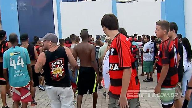 'Arrastão'! Torcedores do Flamengo tentam invadir estádio pelo vestiário do Macaé