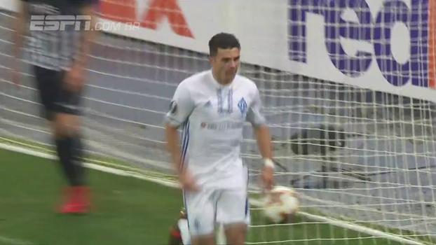 Assista aos gols da vitória do Dínamo de Kiev sobre o Partizan Belgrado por 4 a 1!