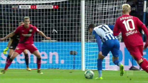 Com golaço e jogada inteligente de lateral, Hertha Berlin supera o Bayer Leverkusen