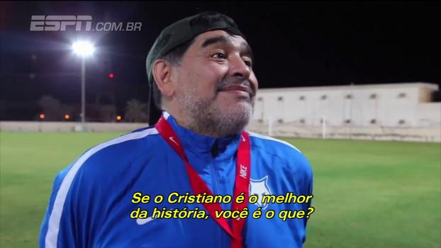 Maradona sobre CR7 dizer que é o melhor da história: 'Fala para ele parar de besteira'