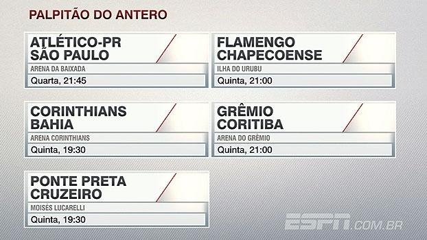 Confira os palpites de Antero Greco para a rodada do Campeonato Brasileiro