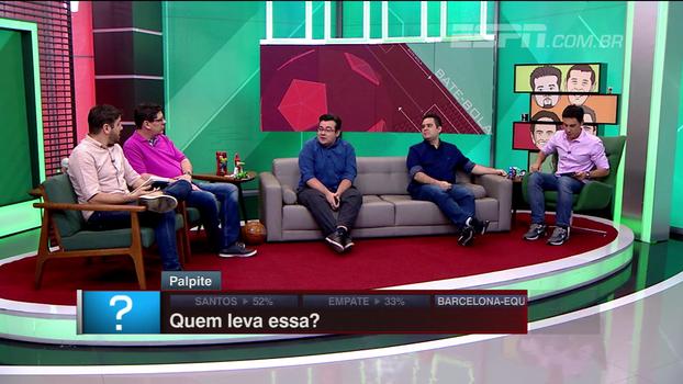 Comentaristas do BB Debate palpitam sobre resultado de Santos e Barcelona de Guayaquil