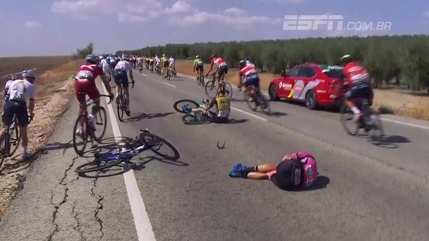 Tombos feios e vitória de Matteo Trentin: veja o resumo da 13ª etapa de La Vuelta