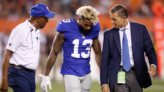Odell Beckham Jr se machuca, e New York Giants perde para o Cleveland Browns