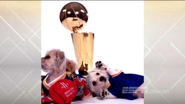 Para divulgar jogos marcantes do calendário, os Warriors inovaram de maneira extremamente fofa: cachorrinhos