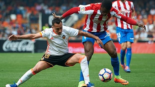 Valencia perde pênalti e só empata em casa com o Sporting Gijón
