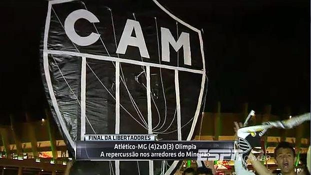 Pipa gigante, torcedor desacreditado, elogios a Cuca... A festa nos arredores do Mineirão