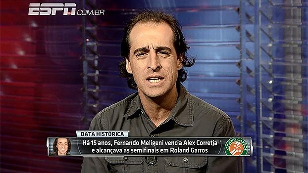 Há 15 anos, Fernando Meligeni alcançava semifinal de Roland Garros: 'Foi maior resultado da minha carreira'