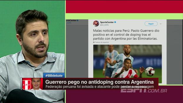 Guerrero é pego no doping em jogo da seleção peruana contra a Argentina