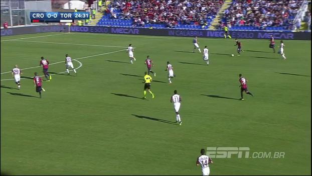 Crotone fica à frente duas vezes, mas cede empate no último minuto para o Torino