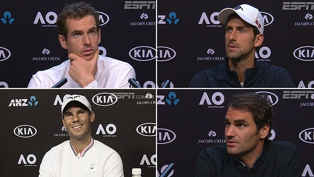 Antes do Australian Open, 'Big Four' comenta expectativas para o torneio