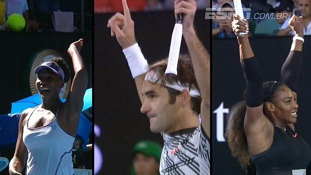 O Grand Slam dos 'coroas': experiência fala alto no resumo do Australian Open desta quinta