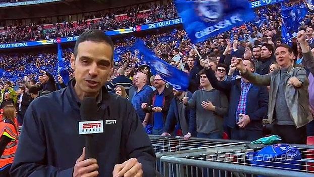 Tira-teima: no encontro dos melhores da Premier League, o Wembley ficou azul