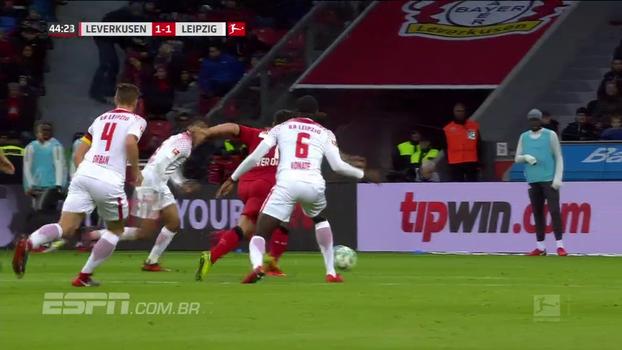 Veja os gols do empate entre Bayer Leverkusen e RB Lepizig pela Bundesliga!