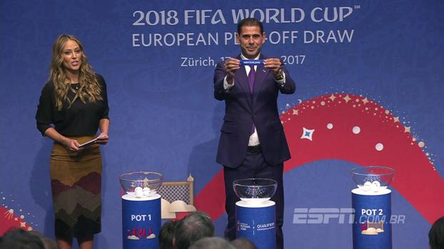 Veja como foi o sorteio da repescagem das Eliminatórias Europeias para a Copa do Mundo
