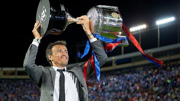 Luis Enrique destaca conquistas em despedida do Barcelona: '9 títulos em 13 que disputamos'