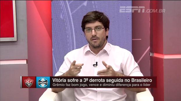 Gustavo Lucchesi vê momento preocupante no Vitória e diz que situação do técnico é delicada: 'Vai ter caça às bruxas'