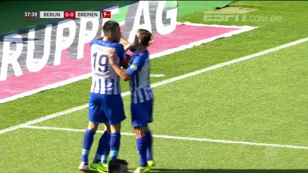 Hertha Berlin abre o placar, mas leva empate no segundo tempo e tropeça em casa