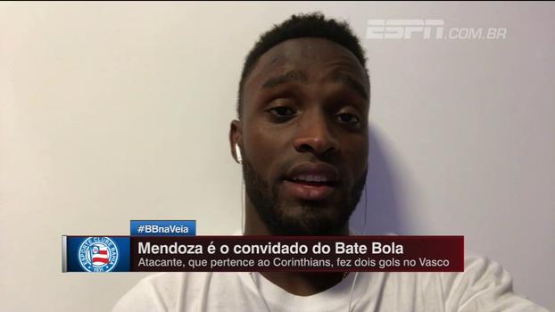 Mendoza comemora momento no Bahia, fala sobre contrato com Corinthians e sonha com Copa e Europa: 'Quero jogar em nível alto'