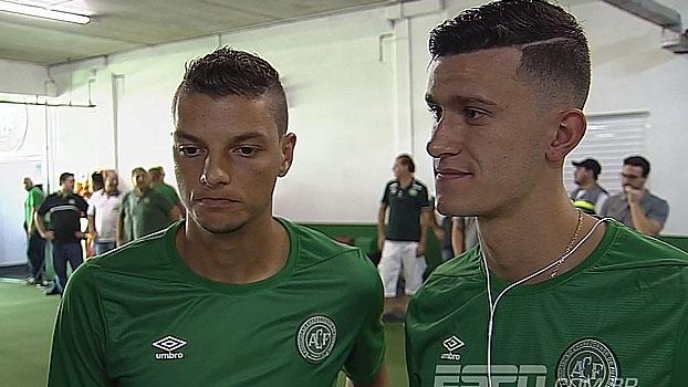 Antes de amistoso contra Palmeiras, Andrei e Nathan exaltam oportunidade de jogar na Chapecoense