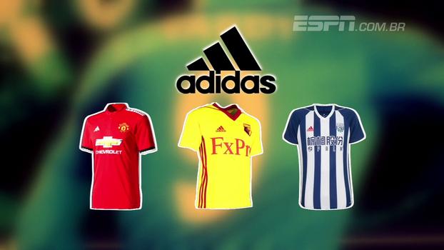 Oito marcas diferentes fabricam os uniformes da Premier League; conheça