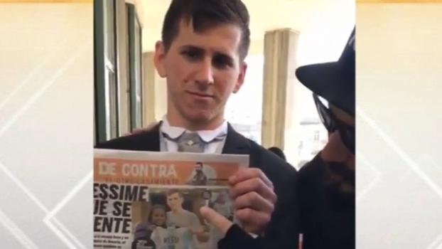 Na véspera do casamento de Messi, sósia do craque faz sucesso na Argentina