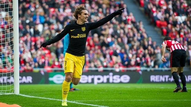 Griezmann marca belo gol, mas Atlético de Madrid fica no empate com o Athletic Bilbao