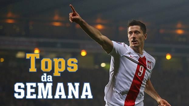 Lewandowski detona pela Polônia, Equador surpreende Argentina, e vaga inédita na Euro no Tops da Semana