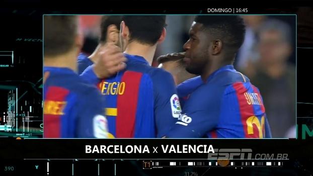 LaLiga: assista ao jogo Barça x Valencia neste domingo, 16h45, na ESPN Brasil e no WatchESPN