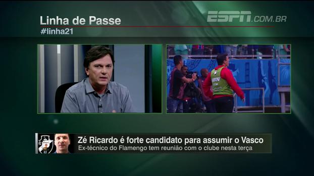 Mauro: 'O Vasco já fez proposta a Zé Ricardo, tem reunião na terça-feira e deve treinar o time na quarta'