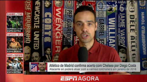 Fim da novela Diego Costa e expectativa para a partida contra o Stoke City; João Castelo traz as novidades do Chelsea