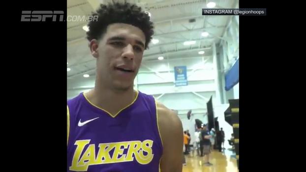 Kobe ou LeBron? Nova promessa dos Lakers, Lonzo Ball dá resposta polêmica