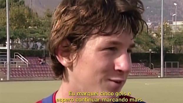 Reveja gols e entrevistas de Messi na base do Barcelona no aniversário de 30 anos do argentino