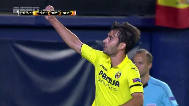 Villarreal leva 2 gols, mas busca empate com o Slavia Praga e divide a liderança do Grupo A