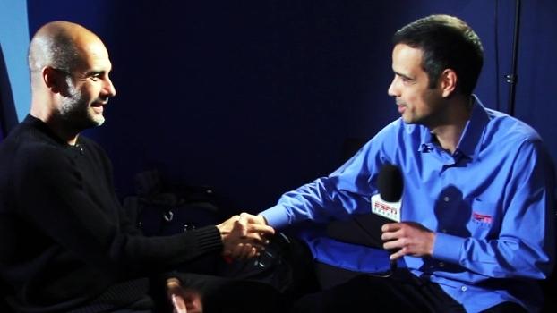 Pep Guardiola falou aos microfones dos canais ESPN de forma exclusiva; assista